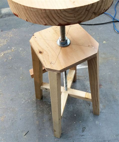 Workbench Stool Plans White Build A Industrial Adjustable Height Bolt Bar