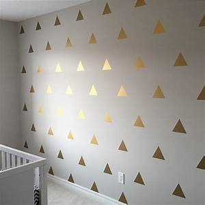 gold triangle wall decals golden triangle decals by walltribe With gold wall decals