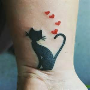 Cat Tattoo Designs for Women On Wrist