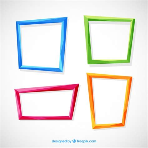 colorful picture frames flat colorful frames collection vector free
