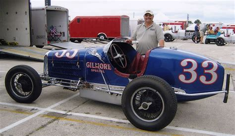 Rare 1935 Gilmore Special Miller Indy Race Car Going At