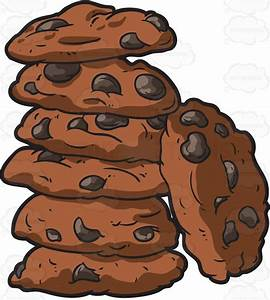 A Stack Of Chocolate Chip Cookies Cartoon Clipart - Vector ...