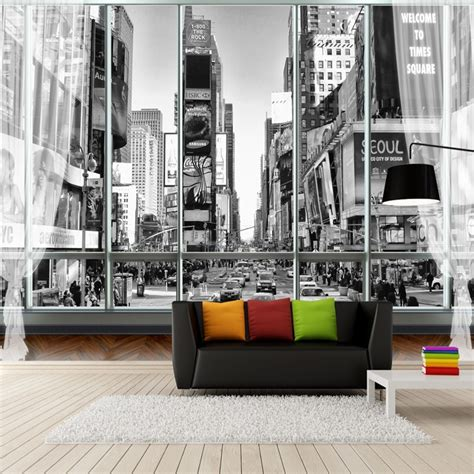 custom stereoscopic wallpaper  walls  black white