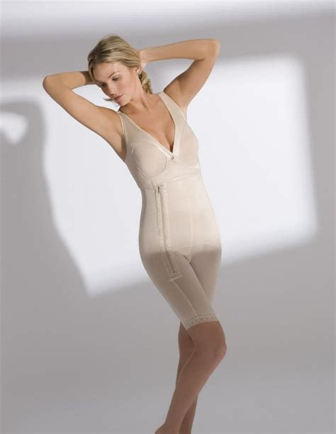 Full-body Sleeveless Above the Knee Girdle - Annette