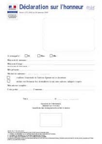 Attestation Sur L Honneur De Vie Commune by Declaration Sur L Honneur Parole D Experts