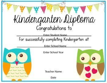 kindergarten graduation diploma   reed teachers