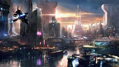 Gaming Futuristic Games Remember Science Concept Cities