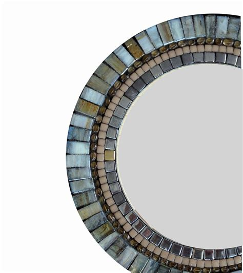 Spiegel Mosaik Wand by Accent Mirror Wall Decor Mosaic Mirror Blue Brown