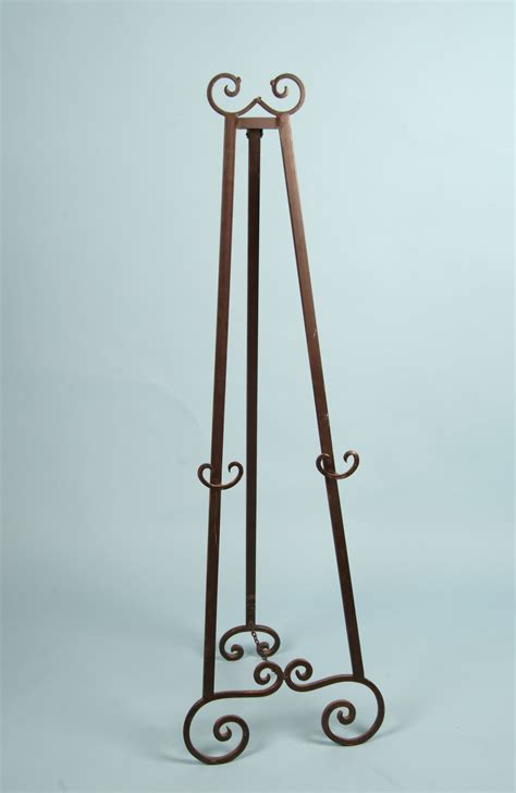 decorative metal floor easel brown tone finish arizona