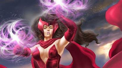 Witch Scarlet Wallpapers Comics Fantasy Marvel Heroes