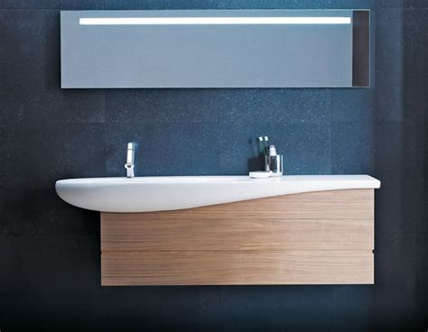 Contemporary Wall Hung Ceramic Bathroom Sink With Drawers