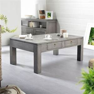 Table De Salon La Redoute : table basse la redoute table de salon en pin gris bello 100x60 tikamoon ventes pas ~ Voncanada.com Idées de Décoration