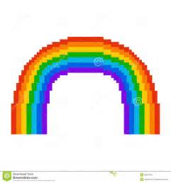 minecraft backdrop illustration pixel rainbow royalty free stock photography