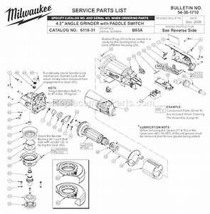 Milwaukee 4 5 U0026quot  Angle Grinder With Paddle Switch