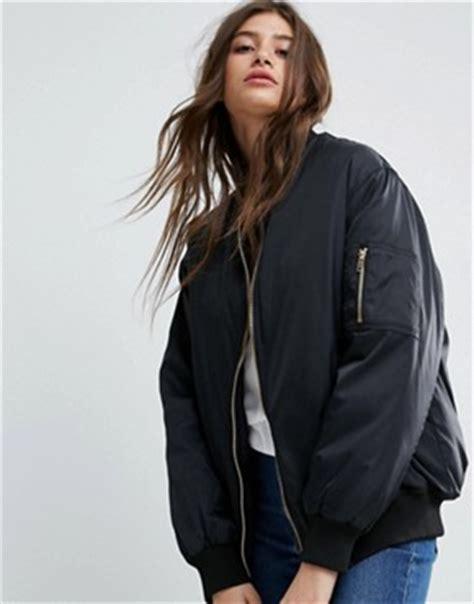 womens bomber jackets leather khaki bomber jackets asos