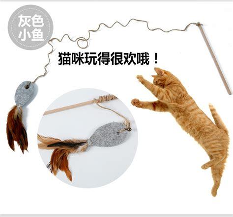 wholesale bulk felt pet feather dangler cat toy fishing