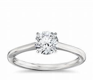 petite solitaire engagement ring in platinum blue nile With wedding rings solitaire