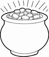 Coloring Gold Coins Pages Pot Printable Getcolorings sketch template