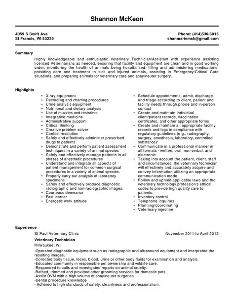Animal Resume Objective by Receptionist Resume Veterinary Clinic Sales Receptionist Lewesmr