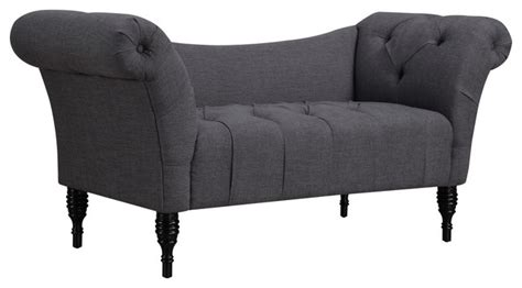 Chaise Settee Lounge by Sheik Grey Velvet Settee Indoor Chaise