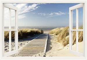Blick Aus Dem Fenster Poster : eva gruendemann fensterblick nordseestrand auf langeoog steg leinwandbilder ~ Markanthonyermac.com Haus und Dekorationen