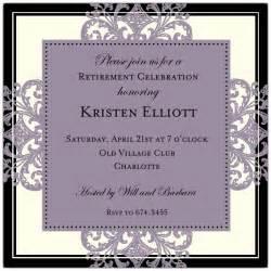 invitations for bridal luncheon decorative square border eggplant retirement invitations