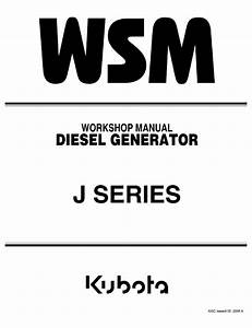 Kubota J Series Diesel Generator Workshop Manual Pdf