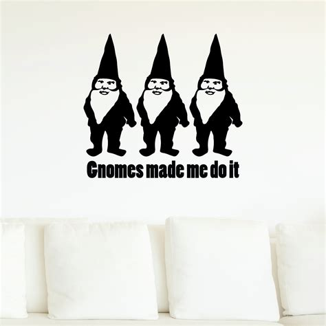 gnomes     wall quotes decal wallquotescom