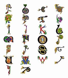 celtic wall art book of kells name wall art sew With letter art book