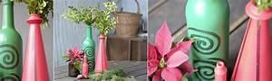 Deko Mit Flaschen : weihnachtsdeko selber machen upcycling vasen aus flaschen ~ Frokenaadalensverden.com Haus und Dekorationen