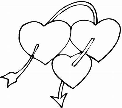 Coloring Heart Pages Broken Printable