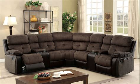 Sectional Sofas Reclining by Hadley Ii Espresso Reclining Sectional From Furniture Of
