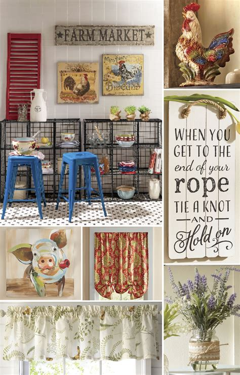 decorating ideas  create  cozy country kitchen