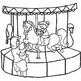 Coloring Pages Carnival Carousel Park Ride Amusement Kid Little Colouring Roller Coaster Want Costume Drawing Miscellaneous Freddy Printable Getcolorings Games sketch template