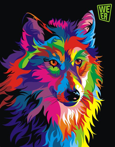 colorful vector animals  wahyu romdhoni pretty cool