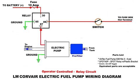 Electric Fuel Pump Circuits With Relay Wiring Diagrams