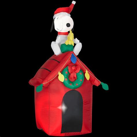 48 quot airblown inflatables peanuts snoopy doghouse christmas