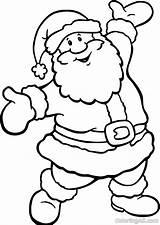 Santa Coloring Welcome sketch template