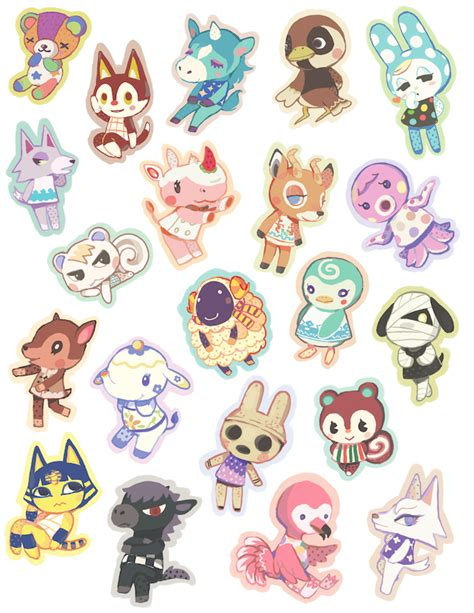 Animal Crossing Pocket C Live Wallpaper - set of 21 animal villager stickers nerdvana