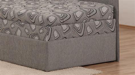 polsterliege mit bettkasten 90x200 polsterliege sentino in grau bonell federkern mit bettkasten 90x200 cm
