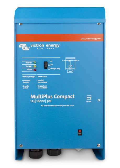 inversor cargador victron energy multiplus c 24 800 16