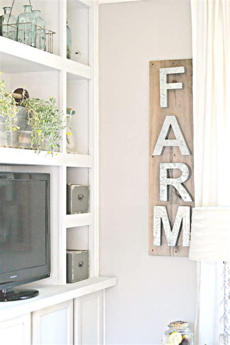 industrial farmhouse wall decor 100 diy farmhouse home decor ideas the 36th avenue Industrial Farmhouse Wall Decor