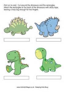 dinosaurs finger puppets 2