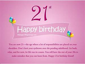 21st Birthday Wishes, Messages and Greetings ...