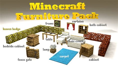 Minecraft Furniture Pack [cinema 4d]