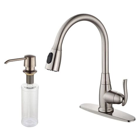 homedepot kitchen faucets kraus single lever pull out kitchen faucet and soap