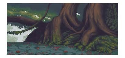 Souls Dark Pixel Forest Animated Monster Hunter