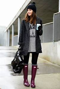Black and gray with plum Hunter boots   Stylish Gambino .   Pinterest   Hunter Boots Hunters ...