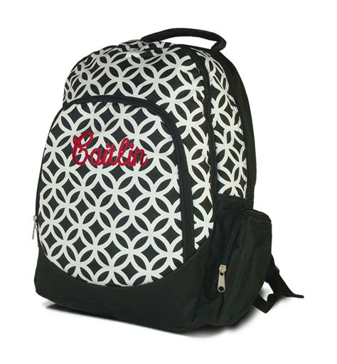 monogram backpack  embroidered personalization