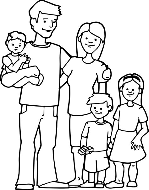 family kids coloring page wecoloringpagecom